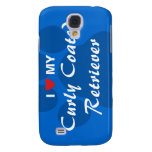 I Love (Heart) My Curly Coated Retriever Galaxy S4 Cover