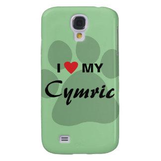 I Love (Heart) My Cymric Cat Pawprint Design Samsung Galaxy S4 Case