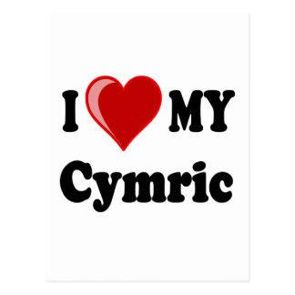 I Love (Heart) My Cymric Cat Postcard