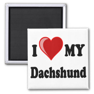 I Love (Heart) My Dachshund Dog Magnet