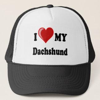 I Love (Heart) My Dachshund Dog Trucker Hat