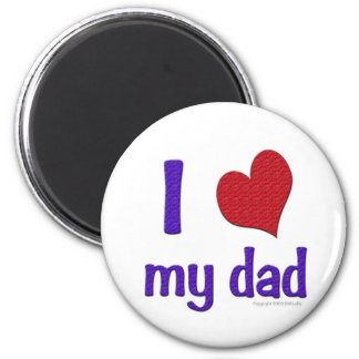 I Love (Heart) my dad Magnet