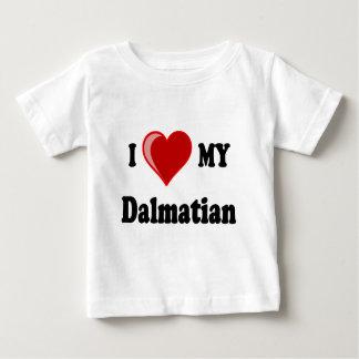I Love (Heart) My Dalmatian Dog Baby T-Shirt