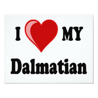 I Love (Heart) My Dalmatian Dog Card