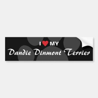 I Love (Heart) My Dandie Dinmont Terrier Bumper Sticker