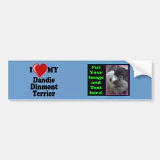 I Love (Heart) My Dandie Dinmont Terrier Dog Bumper Sticker