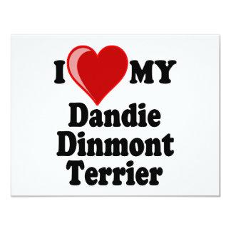I Love (Heart) My Dandie Dinmont Terrier Dog Card