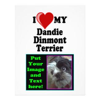 I Love (Heart) My Dandie Dinmont Terrier Dog Flyer