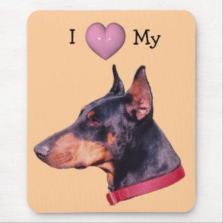I Love Heart My Doberman Cute Mousepad