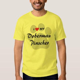 I Love (Heart) My Doberman Pinscher Dog Lovers T-shirt