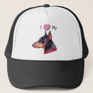 I Love Heart My Doberman Pinscher Hat