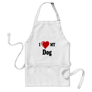 I Love (Heart) My Dog Adult Apron