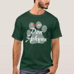 I Love (Heart) My Don Sphynx Pawprint Design T-Shirt