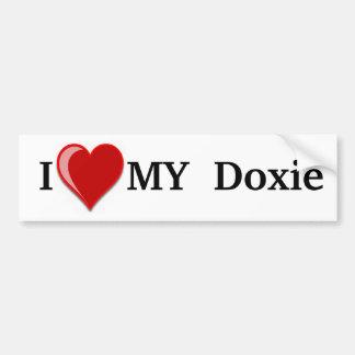 I Love (Heart) My Doxie Dog Bumper Sticker