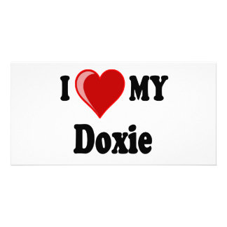 I Love (Heart) My Doxie Dog Card