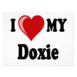 I Love (Heart) My Doxie Dog Custom Invite