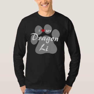 I Love (Heart) My Dragon Li Pawprint Design T-Shirt