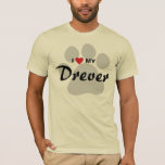 I Love (Heart) My Drever Dog Lovers Shirt