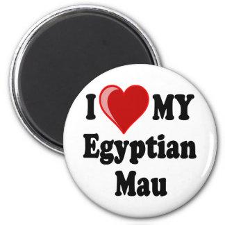 I Love Heart My Egyptian Mau Cat Refrigerator Magnets