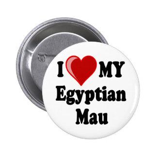 I Love (Heart) My Egyptian Mau Cat Pinback Button