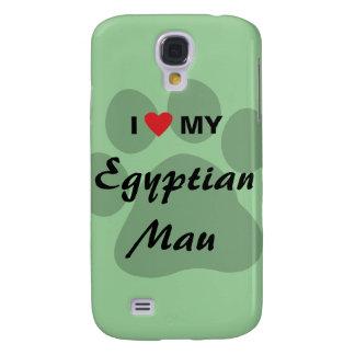 I Love (Heart) My Egyptian Mau Pawprint Design Samsung S4 Case