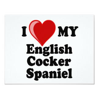 I Love (Heart) My English Cocker Spaniel Dog Card