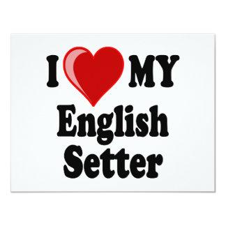 I Love (Heart) My English Setter Dog Card
