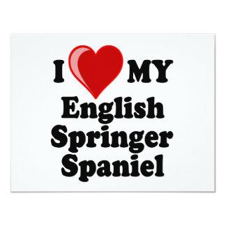 I Love (Heart) My English Springer Spaniel Dog Card