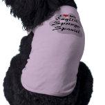 I Love(Heart)My English Springer Spaniel Pawprint T-Shirt