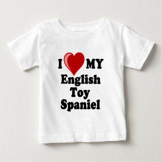 I Love (Heart) My English Toy Spaniel Dog Baby T-Shirt