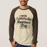 I Love (Heart) My Entlebucher Mountain Dog T-Shirt