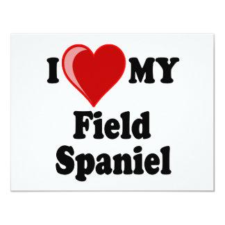 I Love (Heart) My Field Spaniel Dog Card