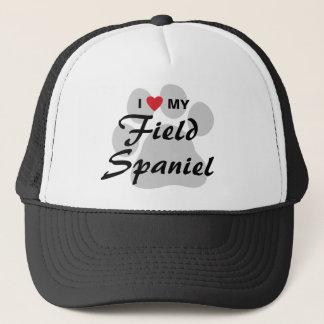 I Love (Heart) My Field Spaniel Trucker Hat