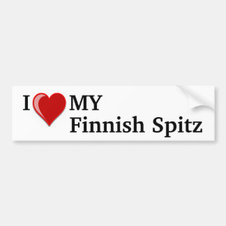 I Love Heart My Finnish Spitz Dog Bumper Sticker
