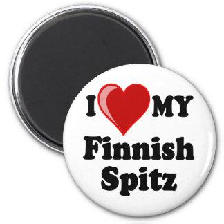 I Love (Heart) My Finnish Spitz Dog Magnet