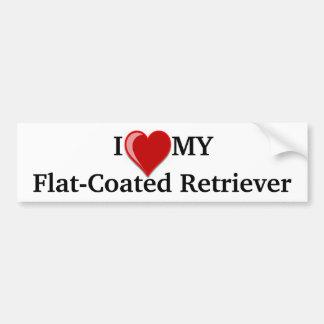 I Love (Heart) My Flat-Coated Retriever Dog Bumper Sticker
