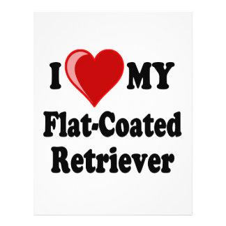I Love Heart My Flat-Coated Retriever Dog Custom Flyer