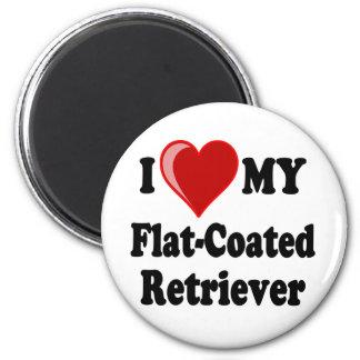 I Love (Heart) My Flat-Coated Retriever Dog Fridge Magnets