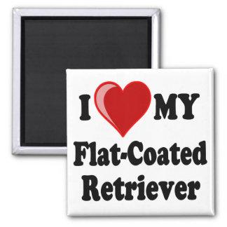 I Love (Heart) My Flat-Coated Retriever Dog Refrigerator Magnet