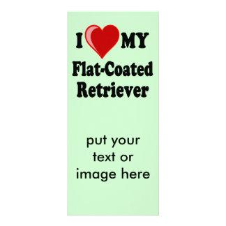 I Love (Heart) My Flat-Coated Retriever Dog Rack Card