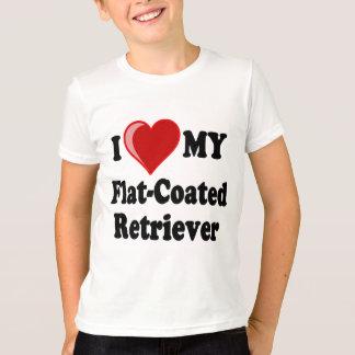 I Love (Heart) My Flat-Coated Retriever Dog T-Shirt