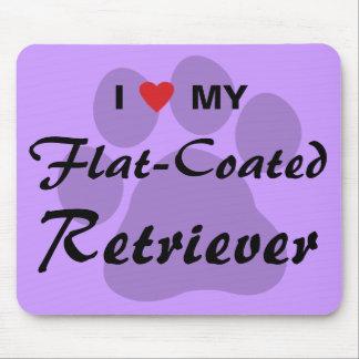 I Love (Heart) My Flat-Coated Retriever Mouse Pad