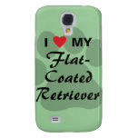 I Love (Heart) My Flat-Coated Retriever Samsung S4 Case
