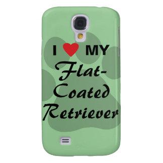 I Love (Heart) My Flat-Coated Retriever Samsung S4 Case