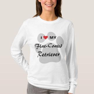 I Love (Heart) My Flat-Coated Retriever T-Shirt