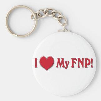 I LOVE (HEART) MY FNP - FAMILY NURSE PRACTITIONER KEYCHAIN