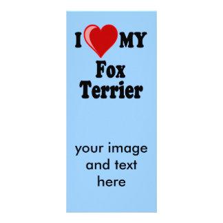 I Love Heart My Fox Terrier Dog Rack Card
