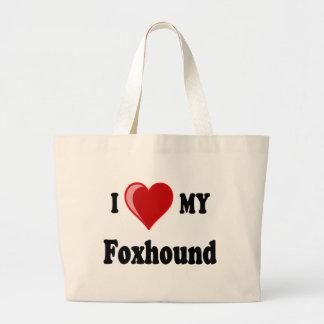 I Love (Heart) My Foxhound Dog Bag