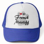 I Love (Heart) My French Mastiff Pawprint Trucker Hat