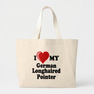 I Love (Heart) My German Longhaired Pointer Dog Bag